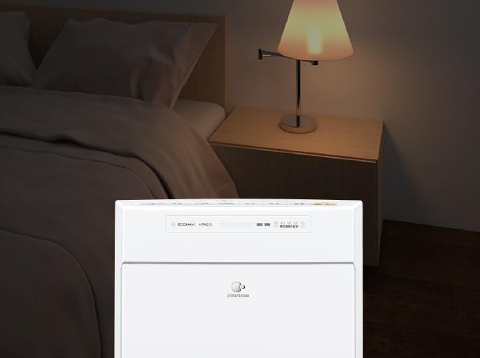 「寝室モード」のイメージ画像です。クリックすると特長ページへリンクします。