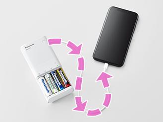もしものときはスマートフォンを充電(出力)