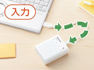 パソコンから充電