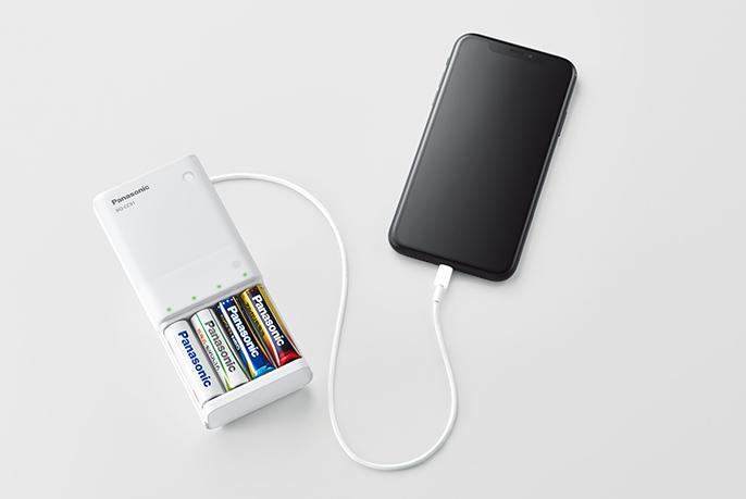 写真:リモコンで使っている乾電池で充電