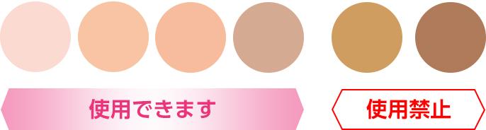 図:使用できる肌の色の目安