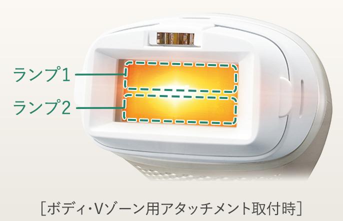 写真:ES-WP97 ダブルランプ[ボディ・Vゾーン用アタッチメント取付時]