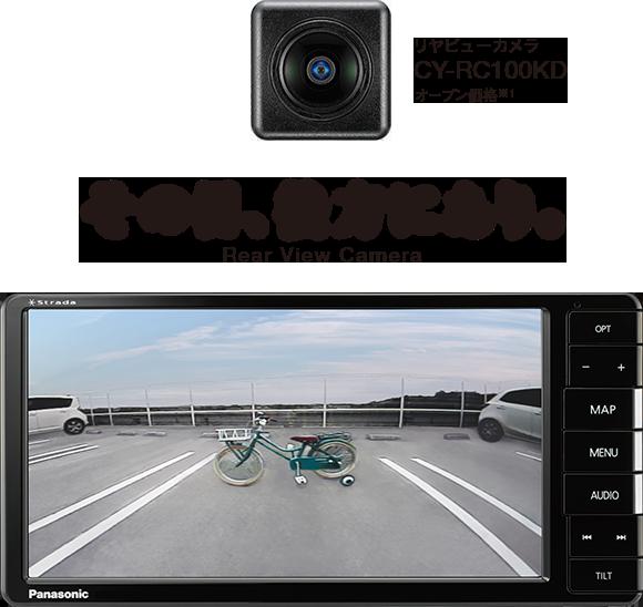 その目、後方にあり。リヤビューカメラ CY-RC100KD オープン価格※1