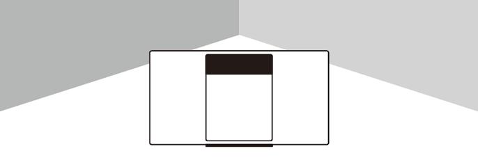 設置イメージ:コーナーに設置(CORNER)