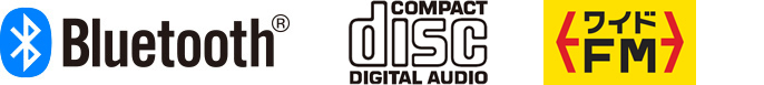 Bluetooth®/Compact Disc Digital Audio/ワイドFM/