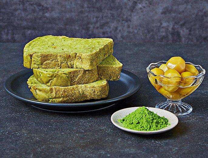 色鮮やな緑が映える!抹茶&甘栗入り「おうち乃が美」