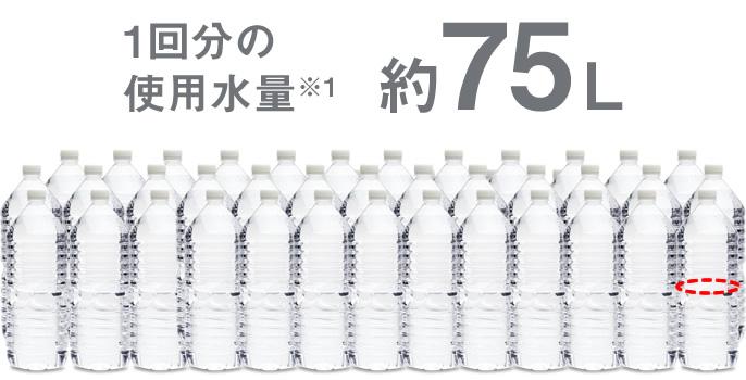 1回分の使用水量,約75L