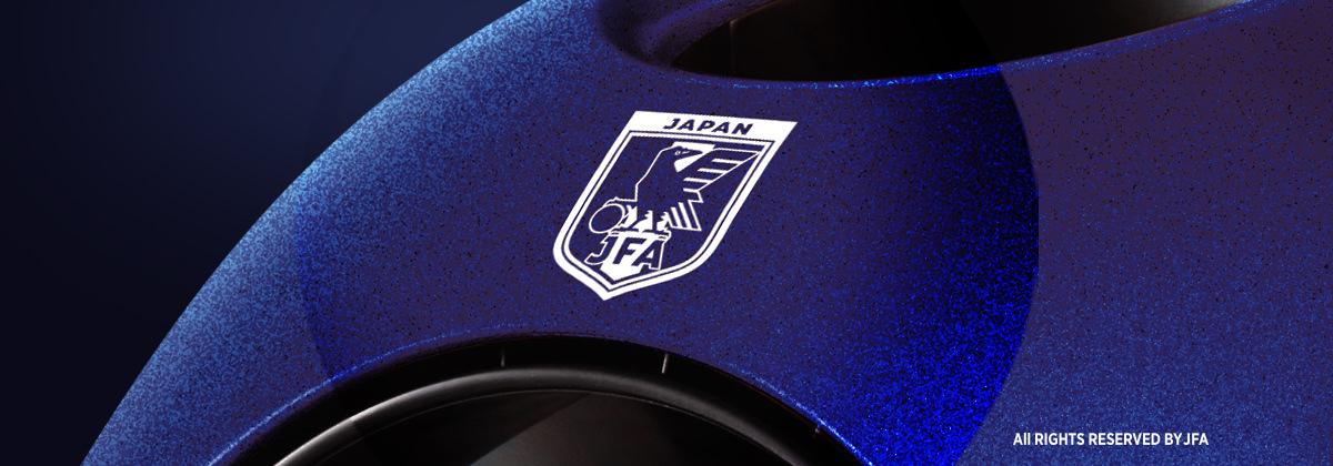 JFAのシンボルにフォーカスした本体画像です。