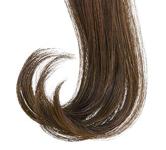 美しくカールした髪のイメージ