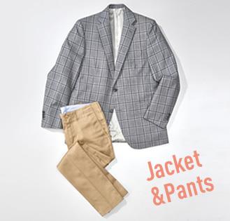 ジャケットやパンツ