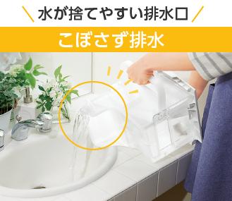 水が捨てやすい排水口 こぼさず排水
