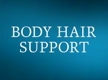 BODY  HAIR SUPPORT for Athletes