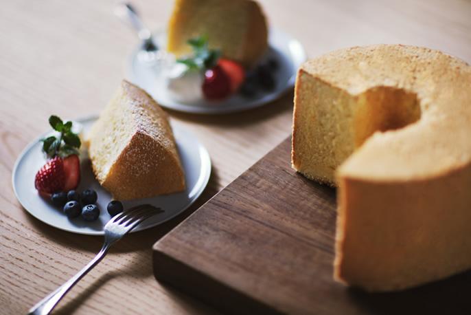シフォンケーキの画像です。