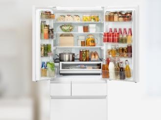 冷蔵庫の写真です。部屋別に機能を紹介するページにリンクします。