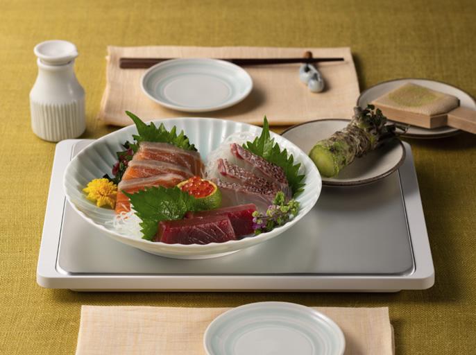 冷製料理や生鮮食品の冷たさを食卓でもキープ