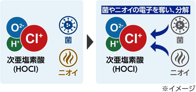 除菌効果のある次亜塩素酸を簡単に生成