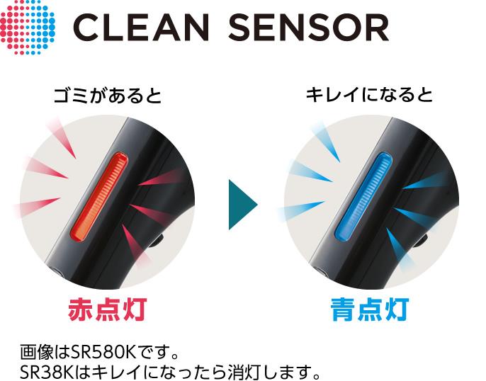 クリーンセンサーの点灯イメージ