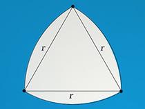 「ルーローの三角形」のイメージ画像です。クリックすると考えつくされたカタチ 「ルーローの三角形」とはページへ移動します。