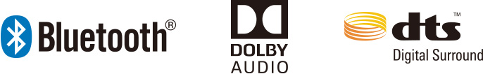 Bluetooth / DOLBY AUDIO / dts / AAC