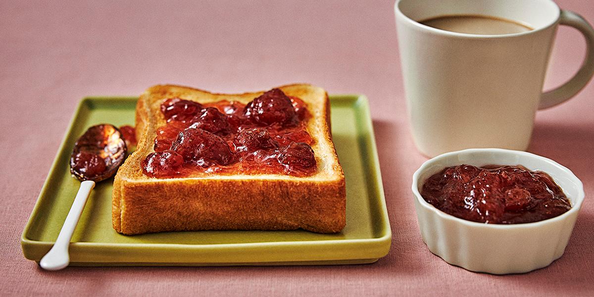 いちごジャムトーストのイメージ