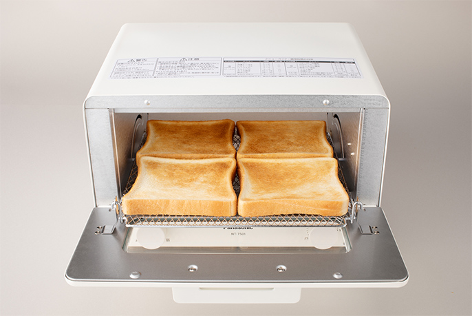 トースト4枚のイメージ