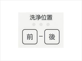 写真:洗浄位置調節ボタン