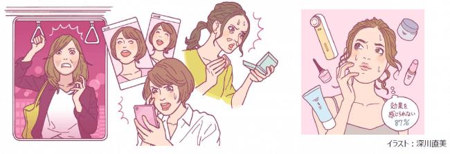 30~40代女性、「顔のエイジングサイン」の平均自覚年齢は33.9歳! 電車の窓に映る自分、過去の写真…ふとした瞬間に気づく顔のエイジングサイン、83%が「おばさん化」を自覚!