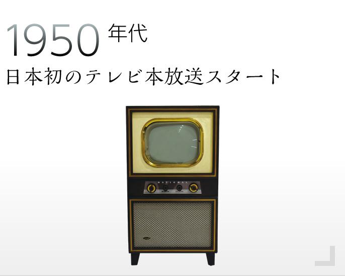1950年代 日本のテレビ本放送スタート