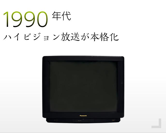 1990年代 ハイビジョン放送が本格化