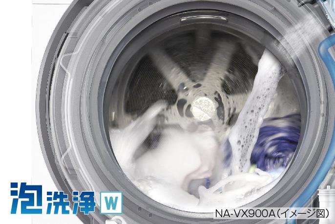 泡洗浄W,NA-VX900A(イメージ図)