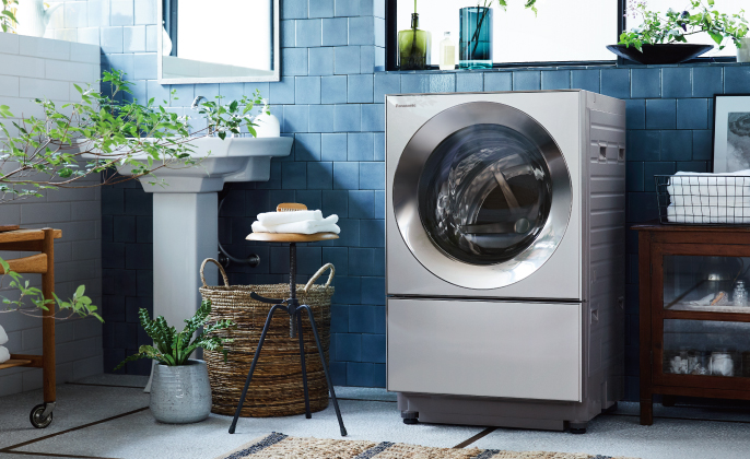 Cubleシリーズ特長:キュービックフォルム | 商品一覧 | 洗濯機・衣類乾燥機 | Panasonic
