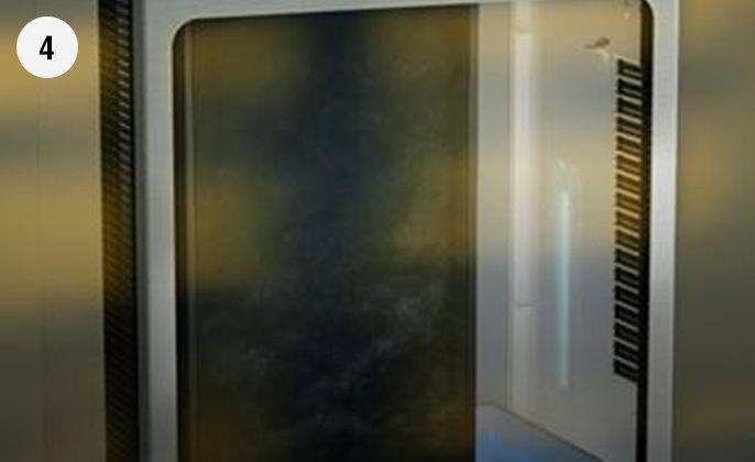 保護エレメントで粗ゴミを捕集している画像です。