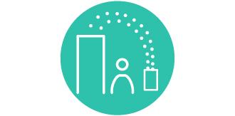 ジアイーノの次亜塩素酸が高い家具に届いているアイコンです